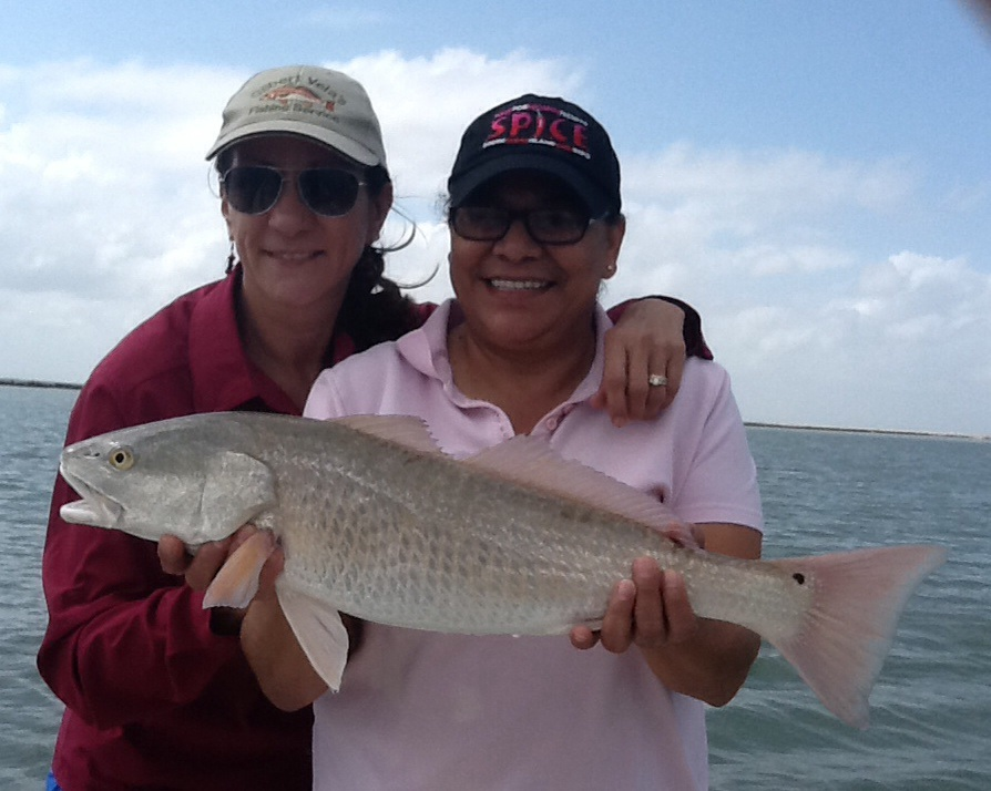 Angie Rosales of Port Isabel with Redfish