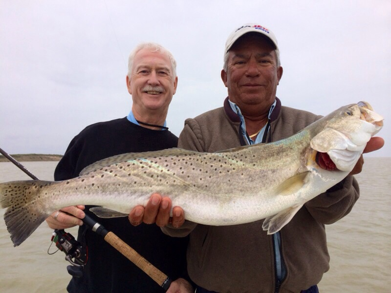 Huge Trout fishing guide Gilbert Vela