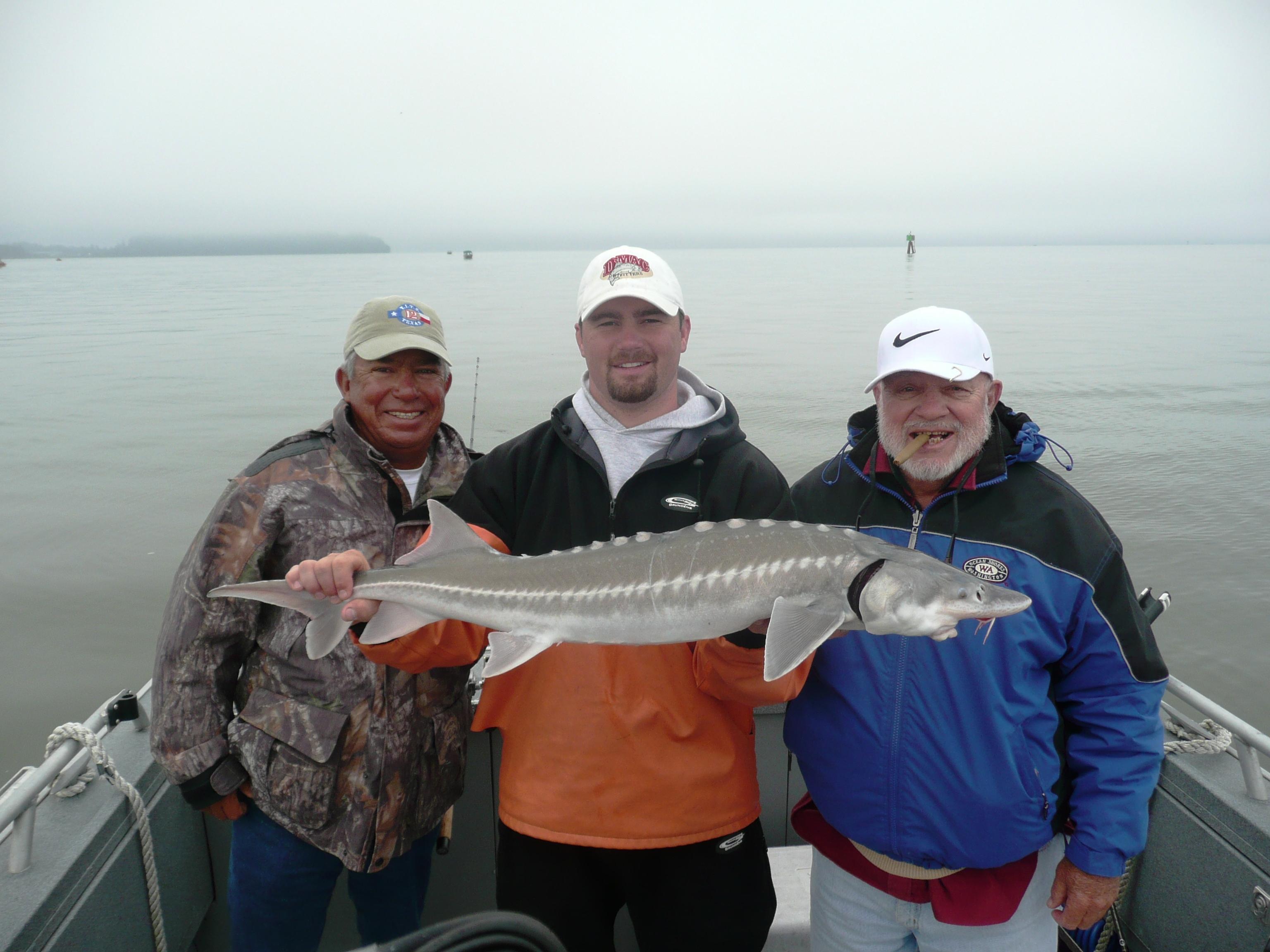 sturgeon fish with Chris Kobel